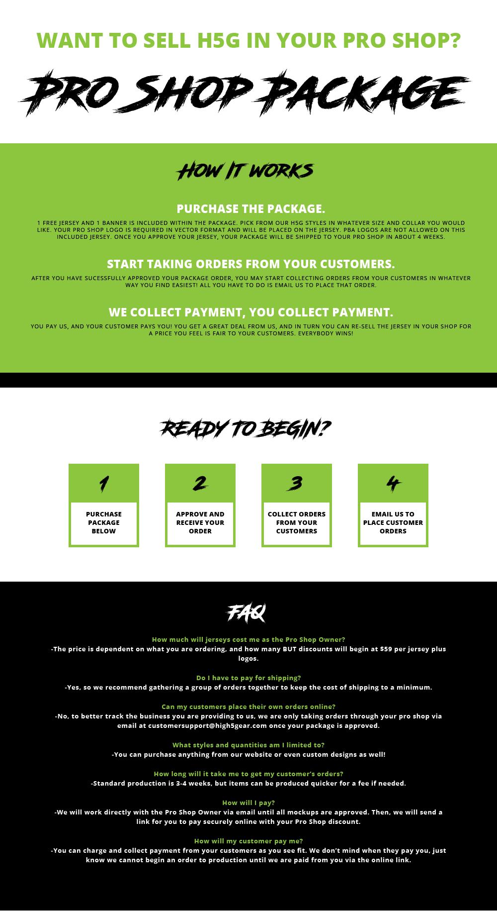 Pro Shop Package - Schools & Programs - BOWLING